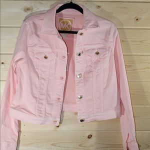 Michael Kors Peach Jean Jacket - Size Medium